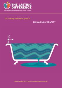 Capacity Guide front page: a bath overflowing with water